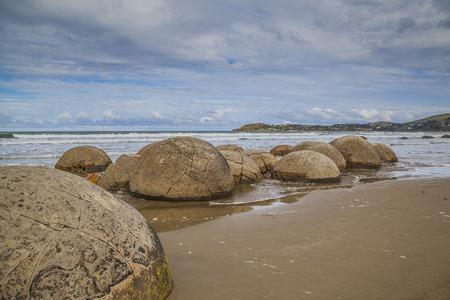 boulders: New Zealand Otago Moeraki Boulders