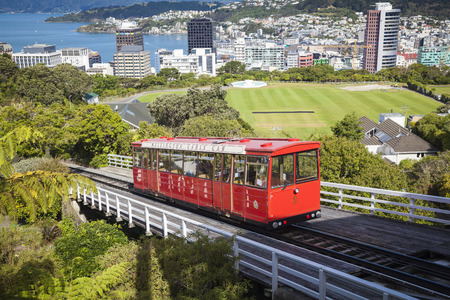 Cable car in Wellington Stock Photo