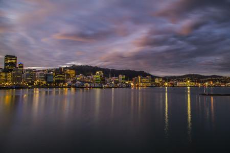 wellington: Wellington skyline by night