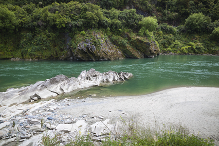 west river: River landscape on the west coast New Zealand