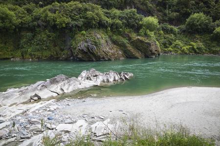 aotearoa: River landscape on the west coast New Zealand