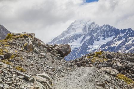 aoraki mount cook national park: Mountains in Mount Cook National Park New Zealand Stock Photo