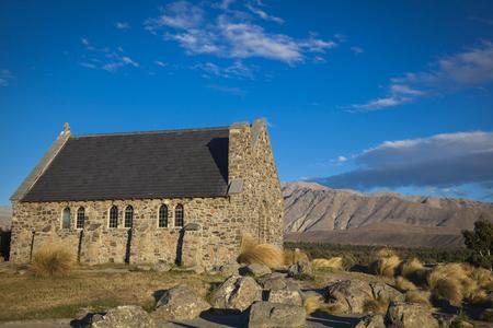 Chapel of the good shepherd Lake Tekapo Stock Photo