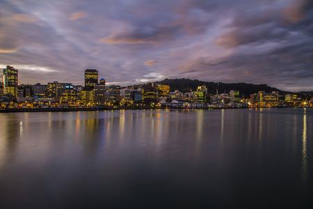 Wellington skyline by night
