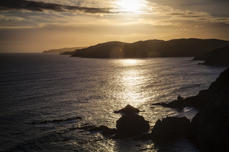 nugget: Nugget Point Catlins New Zealand in the evening