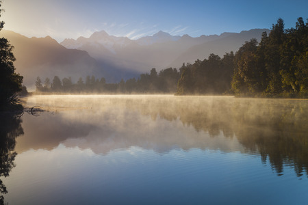 south island new zealand: Lake Matheson South Island New Zealand