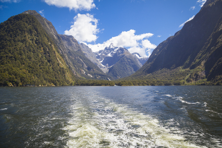 milford: At the Milford Sound New Zealand Stock Photo
