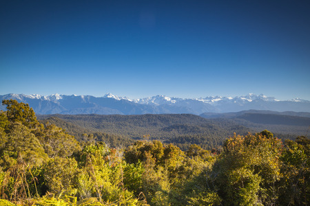 west  coast: Landscape at the west coast of the South Island New Zealand Stock Photo