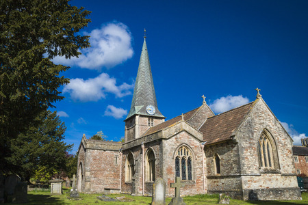 old english: Old English Church and Grave Yard in Somerset