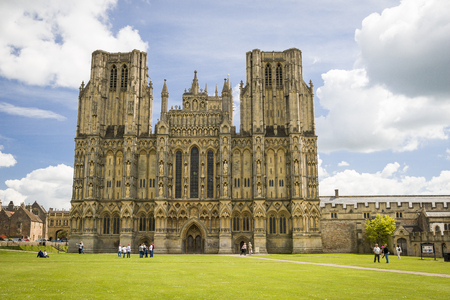 wells: Wells Cathedral in Somerset England Stock Photo