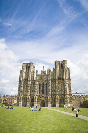 wells: Wells Cathedral in Somerset England Editorial