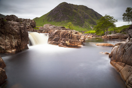 glencoe: River Etive waterfall, Glencoe, Scotland