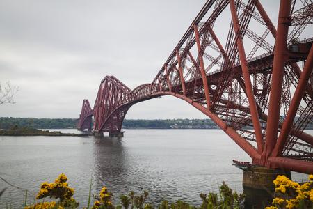 forth: Forth Rail Bridge and Firth of Forth near Edinburgh, Scotland