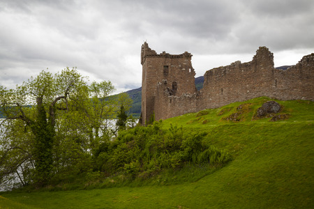 Ruins of Urquart Castle, Loch Ness, Scotland