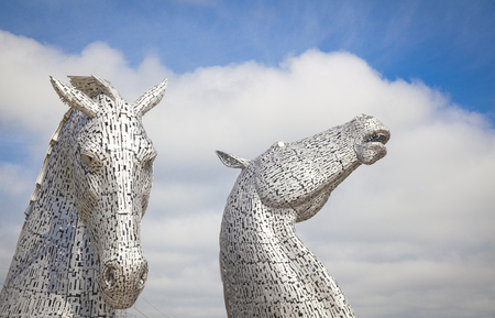 the Kelpies on the Forth and Clyde canal near Falkirk