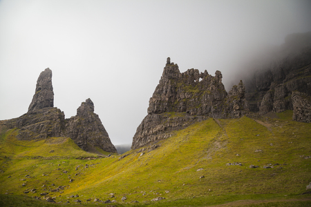 The old man of Storr and other pinnaceles, Isle of Skye, Scotland