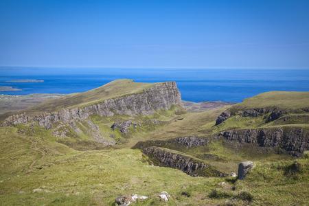 skye: Quiraing mountain landscape, Isle of Skye, Scotland Stock Photo