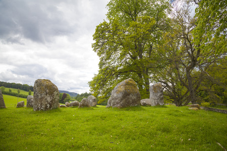 Croft Moraig stone circle, near Aberfeldy, Perthshire. Estimated to date from around 3000BC