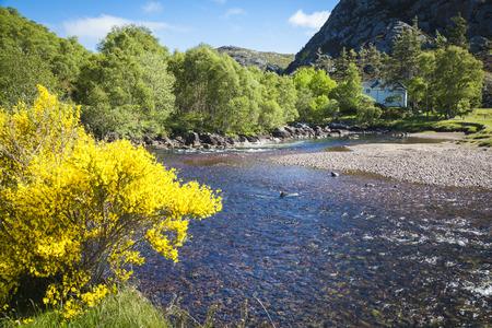 River landscape near Loch Torridon, Wester Ross, Scotland Stock Photo