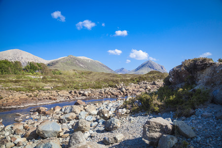 skye: Red Cullin Mountains at the Isle of Skye, Scotland Stock Photo