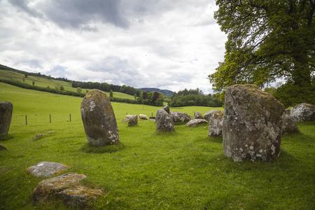Croft Moraig stone circle, near Aberfeldy, Perthshire. Estimated to date from around 3000BC