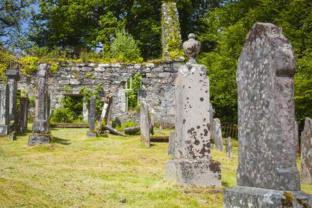 Old cemetary of Lochcarron, Strathcarron, Scotland Stock Photo
