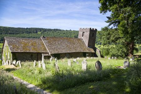 Cwmvoy  church with drunken tower, Wales