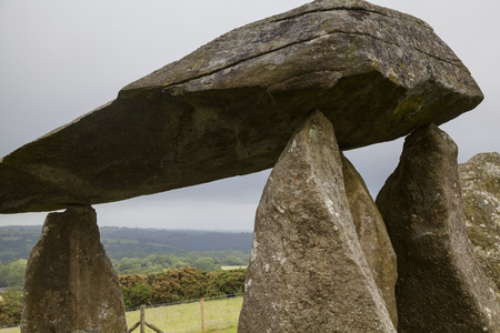 Pentre Ifan - a world famous megalithic burial chamber in the Pembrokeshire national park, Wales