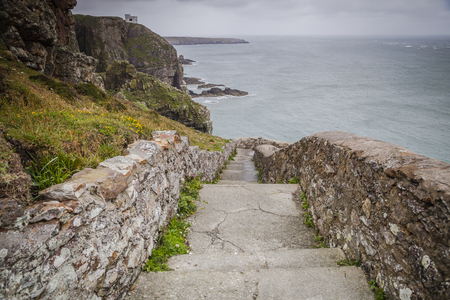 Stairs to South Stack lighthouse, Holy Head, Anglesey