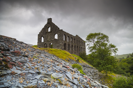 Ruin of an old welsh slate mill