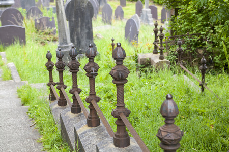 Old traditional cemetary in Wales
