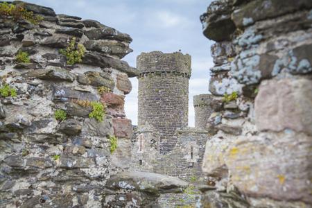 Conwy ruins in Gwynned, Wales