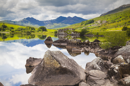 View to Mount Snowdon in Snowdonia National Park