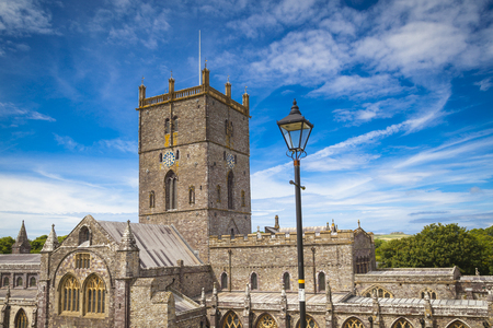 St Davids cathedral in Pembrokeshire, Wales 写真素材