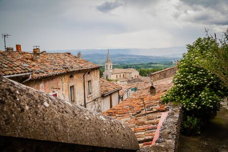 View over the roofs of Bonnieux, a small village in Provence