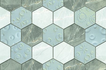 decorative wall: The tiles are the good texture for the background artwork,interior decoration and architectural design material Stock Photo