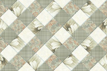 Los azulejos son una buena textura de la ilustración de fondo, decoración de interiores y materiales de diseño arquitectónico