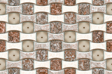 antique wallpaper: The tiles are the good texture for the background artwork,interior decoration and architectural design material Stock Photo