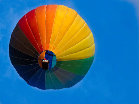 below: Picture of hot air balloon from below
