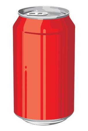 cola canette: aluminium peut en couleur rouge Illustration