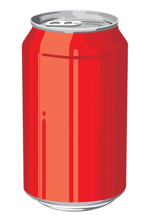 aluminum can in red color Stock Vector - 9884146
