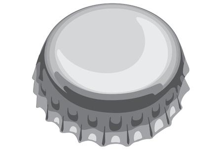 een van de dop van de fles Stock Illustratie