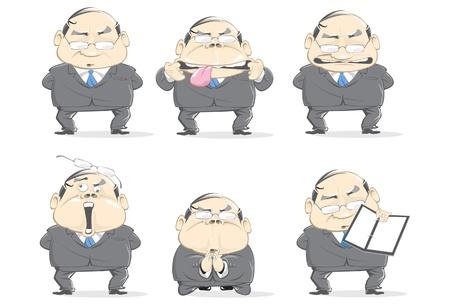 senior business man: crazy business man