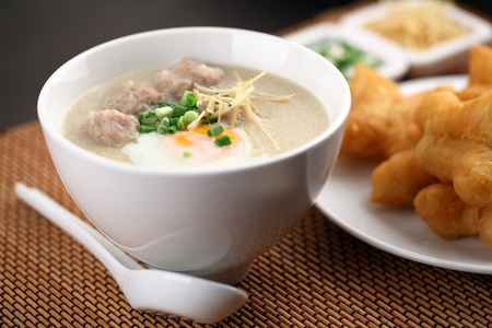 chinese food: Chinese porridge Stock Photo