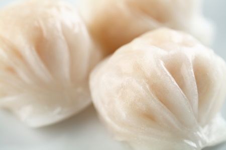three piece of dimsum hagao  photo