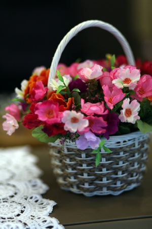 spring flower basket Stock Photo - 13047998