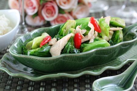 Stir-Fried Cauliflower vegetable Stock Photo
