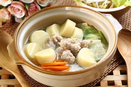 Thai cuisine name Pork soup
