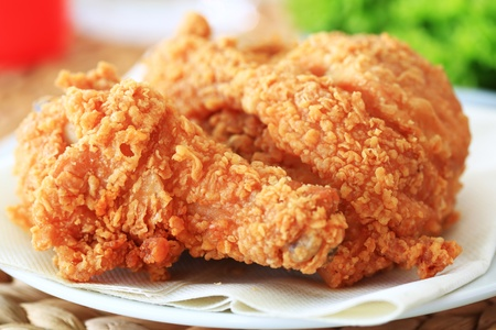 chicken leg: fried chicken