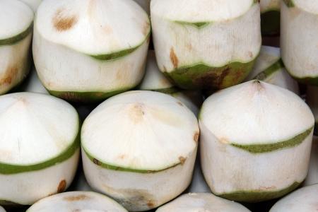 decoratie van schil kokosnoot huid Tropical Fruit Stockfoto